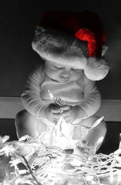 Infant drooling over lights
