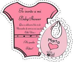 Invitaciones de Baby Shower gratuitas editables y recortables