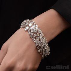 elegant diamond bracelets which truly are Amazing. Indian Wedding Jewelry, Indian Jewelry, Pearl Jewelry, Silver Jewelry, Fine Jewelry, Fancy Jewellery, Silver Rings, Diamond Bracelets, Silver Bracelets