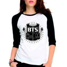 Camiseta Bangtan Boys Bts Suga 93 Raglan Babylook 3 4 - R  38 1a2e27fd2e4eb