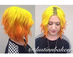 Pravana yellow/orange ombre -- oooh this came out great