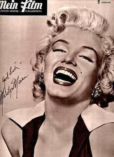 Mein Film - 1952, German magazine. Front cover photo of Marilyn Monroe by Frank Powolny, 1952.