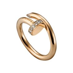 Juste un Clou ring - Pink gold, diamonds - Fine Rings for women - Cartier