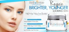 Hydro Restore Cream Review - Regain Brighter, Younger Looking Skin! #Skincare #Skincaretips #AntiagingCream #AntiwrinkleCream #WrinkleFreeSkin #Review2016