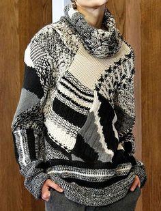 Knitwear Fashion, Crochet Fashion, Old Sweater, Fashion Details, Fashion Design, High Fashion, Womens Fashion, Lookbook, Girls Sweaters