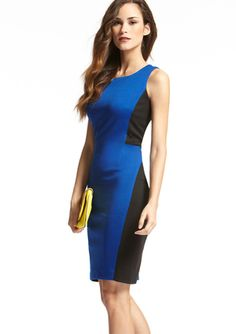 CHETTA B. Sleeveless Side Colorblock Dress