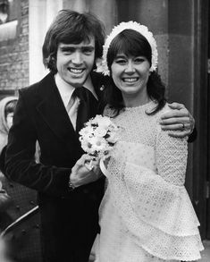 Nerys Hughes and Patrick Turley, 1972 | 41 Insanely Cool Vintage Celebrity Wedding Photos