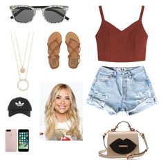 """""""Marlene outfit#1"""" by selma-malfoy on Polyvore featuring Yves Saint Laurent, Billabong, Kate Spade and Topshop"""