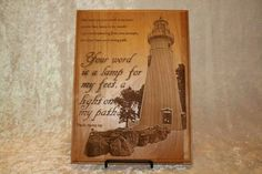 Light unto my path Plaque