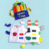 Homemade fabric books Quiet Time Back Pack Book.  Very adorable and entertaining