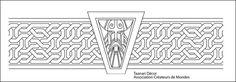 Dwarf Pattern by TaanariDecor on DeviantArt Hobbit Dwarves, Warhammer Dwarfs, Simple Face, Cool Small Tattoos, Cosplay Tutorial, Celtic Tattoos, Laser Cut Wood, Wrist Tattoos, Character Creation
