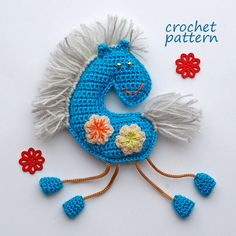 Crochet Pattern. Winter horse souvenir and applique by InspiredCrochetToys on Etsy
