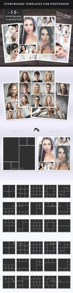 Storyboard Templates Set  By NmDesignStudio On