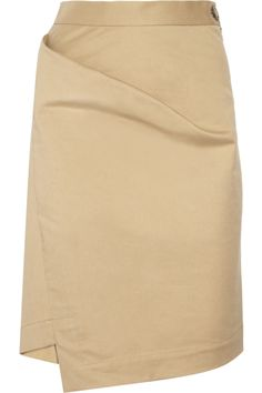 Vivienne Westwood Anglomania|New Accident folded stretch-cotton skirt|NET-A-PORTER.COM $255