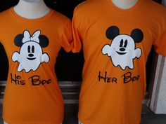 Free Shipping for US Disney Inspired Mickey and Minnie Ghost Couples shirts. by…