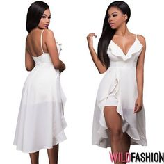 Weekend mood ON! 🎉✨  Cu rochița albă perfectă, acum și la un preț special:👇 High Low, Spandex, Dresses, Fashion, Vestidos, Moda, Fashion Styles, The Dress, Fasion