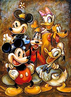 ✶ ''Mickey Mouse and Friends'' Giclée by Darren Wilson ★