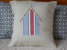 Beach Hut Cushion by TheCushionCove on Etsy, £15.00