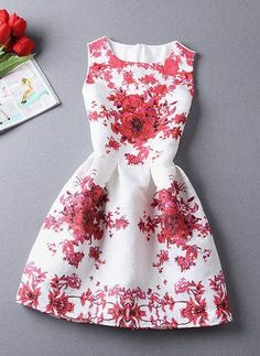 Rosy Summer Dress