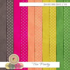 Tea Party - Solids and Dots | France M. Designs