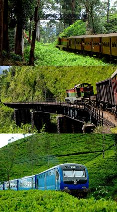 #50 Colombo - Badulla train, Sri Lanka. Catch the morning train to Badulla to explore the beautiful highlands with lush tea plantations and waterfalls. (The 1st class observation car is recommended).