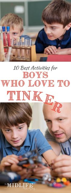 Are you looking for the perfect, engaging, and long-lasting games for boys who tinker? Finding educational activities, games, and toys that allow them to create their own tinker lab can be tough. The ideas and projects listed here have kept my kids engaged and curious for hours! #educationalactivities #elementary www.themidlifemamas.com
