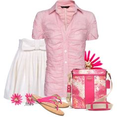 Pink and White for Summer ... by mrsbro on Polyvore