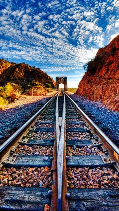 Leading Tracks by Michael Wilson Cool Pictures, Cool Photos, Night Pictures, Train Tunnel, Bonde, Train Art, Old Trains, Ferrat, Train Tracks