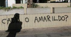 """Pichação """"Cadê Amarildo?"""", autoria desconhecida, Rio de Janeiro, 2/11/13."""