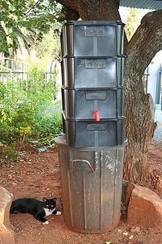 How to Make Backyard and Basement Worm Farms. This article is aimed at those who are serious about using the backyard or basement area of their home to raise fish bait for your own use, or for profit, and for the fun of watching something. Permaculture, Micro Farm, Garden Compost, Worm Composting, Earthworms, Backyard Farming, Pet Chickens, Nesting Boxes, Hydroponics