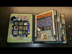 Sold !!! Scrapbook Mini Album Halloween in Won - YouTube