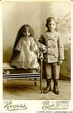 rather frightening; the exact purpose of the doll in this picture is what?
