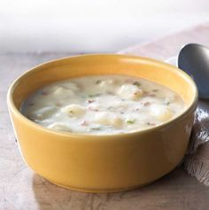 Home-style cuts of russet potatoes simmered with select seasonings and smoked bacon in a rich cream sauce flavored with spring onion and snipped chives. Served Monday and Wednesday.- Visit PaneraBread.com for more inspiration.
