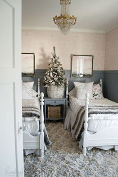 KV Christmas Tree  - This is why I like twin beds for the guest room.