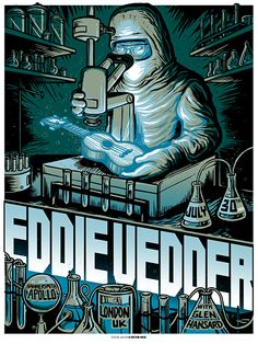 INSIDE THE ROCK POSTER FRAME BLOG: Munk One Eddie Vedder London England Night One Poster on sale TODAY