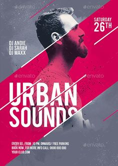 Urban Sounds Party Flyer Template - https://ffflyer.com/urban-sounds-party-flyer-template/ Enjoy downloading the Urban Sounds Party Flyer Templa