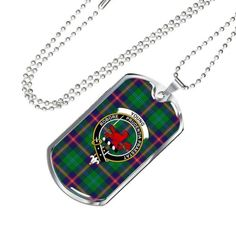 An online retailer of Scottish tartan products, the tartan style is now reflected in everyday items to monk accessories. That was a way of showing how proud Clan was. Scottish Clan Tartans, Scottish Clans, Circle Necklace, Dog Tag Necklace, Military Tags, Tartan Shoes, Everyday Items, Ball Chain, Handcrafted Jewelry
