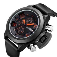 e05346abb99 hombre Picture - More Detailed Picture about MEGIR Men s Watch Luxury Brand  Famous Watches Men Chronograph Silicone Black Male Sports Quartz Watch  Hodinky ...