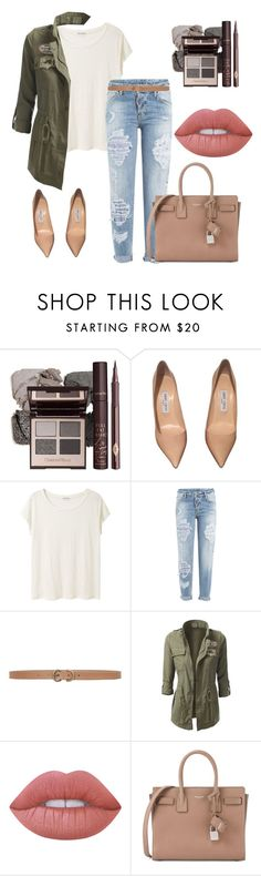 """KAMO"" by gunesokut ❤ liked on Polyvore featuring Jimmy Choo, Acne Studios, Dsquared2, Max Studio, Lime Crime and Yves Saint Laurent"