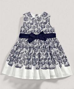 Girls Navy Lace Print Dress -  Mamas & Papas, €36.00