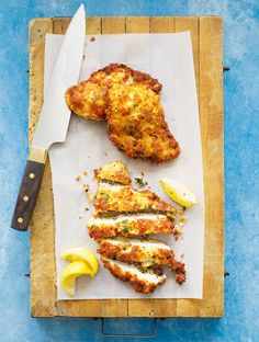 Home-made chicken schnitzels are a real midweek treat and, with this recipe, you can feed four hungry mouths for less than a tenner.