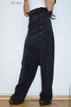 Купить или заказать Экстравагантные черные брюки/Шаровары/F1323 в интернет магазине на Ярмарке Мастеров. С доставкой по России и СНГ. Материалы: поливискоза Harem Jeans, Trousers, Menswear, Women's Fashion, Mood, Suits, Clothes For Women, How To Wear, Etsy