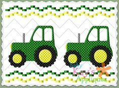Baby Kay's Appliques - Tractor Faux Smock 4x4, 7x3, 7x5, $1.00 (http://www.babykaysappliques.com/tractor-faux-smock-4x4-7x3-7x5/)