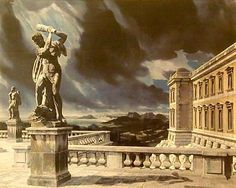 """Terras met Hercules (Terrace with Hercules)"", 1940 / Carel Willink (1900-1983) / Collection Stichting Limburgs Kunstbezit, Maastricht, The Netherlands"