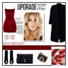 """""""Red Dress"""" by muradija-hamzagic ❤ liked on Polyvore featuring Yves Saint Laurent, Ter Et Bantine and Nordstrom Rack"""