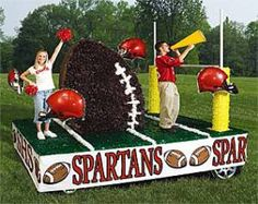 parade float supplies | Float Safety « Parade Float Ideas. could use noodle for the field goal