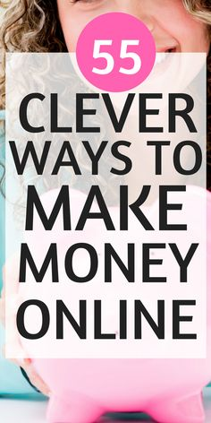 I've found 55 ways to make money online while working at home! These money making ideas for stay at home moms are perfect for anyone who is looking for money making ideas. You'll definitely want to pin this for later! via @https://www.pinterest.com/smartcents/