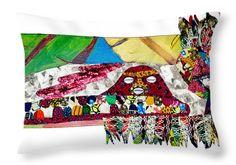 Shango Firebird Decorative Pillow Artwork by Apanaki Temitayo.  Shop at Apanaki Designs