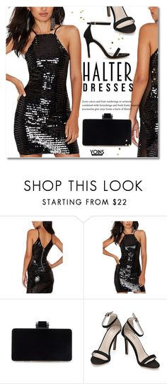"""Shoulder Show: Halter Dresses"" by svijetlana ❤ liked on Polyvore featuring halterdresses"