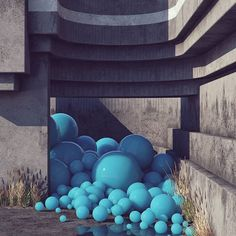 #overflow #cinema #c4d #cinema4d #octane #render #octanerender #photoshop #daily #3d #gfx #graphics #graphic #design #abstract #art #surreal #concrete #brutalism #substance #designer #balls #geometry #spheres #realistic #cyan
